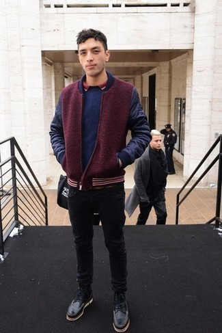 How to Wear a Polo For Men: Who said you can't make a fashionable statement with an off-duty look? You can do that easily in a polo and black jeans. Black leather casual boots will bring a different twist to an otherwise mostly dressed-down getup.