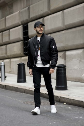 How To Wear Black Jeans With White Low Top Sneakers For Men (117 ... 73a553b39