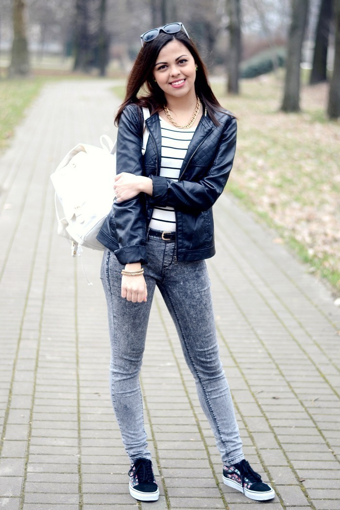 How to Wear a Navy Bomber Jacket (43 looks) | Women&39s Fashion