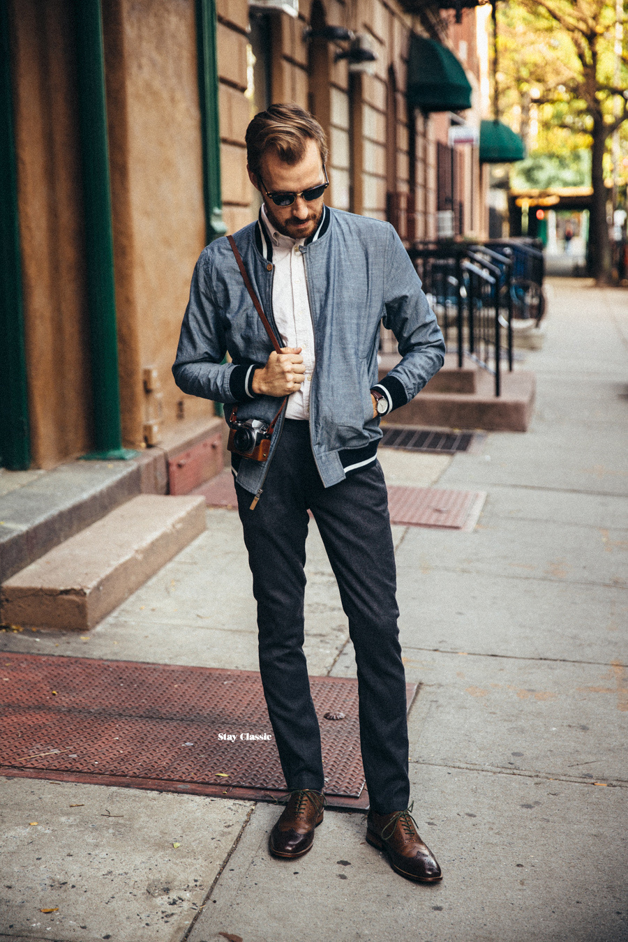 How To Wear a Bomber Jacket With a White Dress Shirt | Men's Fashion