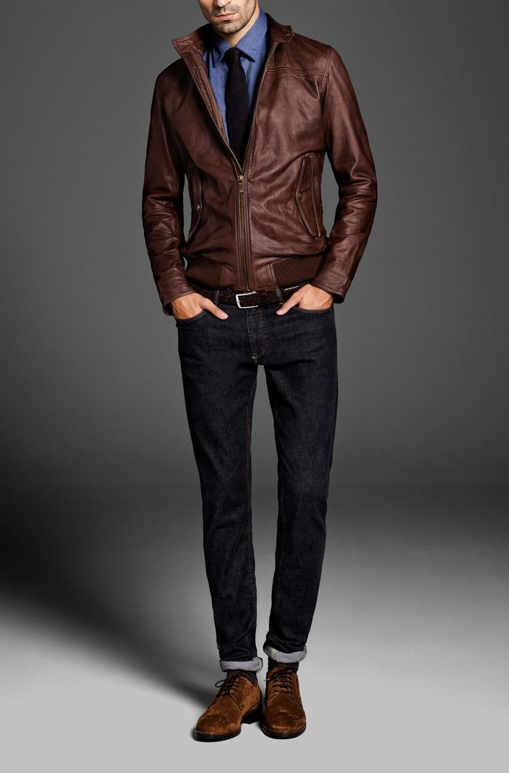 How to Wear a Brown Bomber Jacket (51 looks) | Men's Fashion