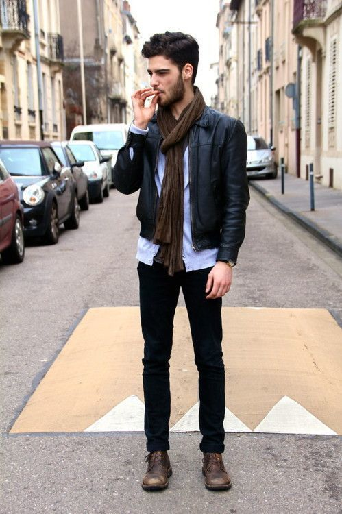 How To Wear a Bomber Jacket With Dark Brown Boots | Men's Fashion