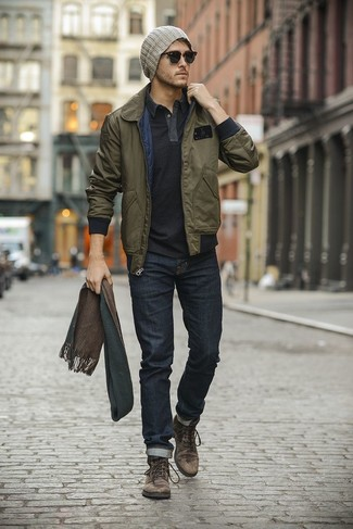 How to Wear an Olive Bomber Jacket (46 looks) | Men&39s Fashion
