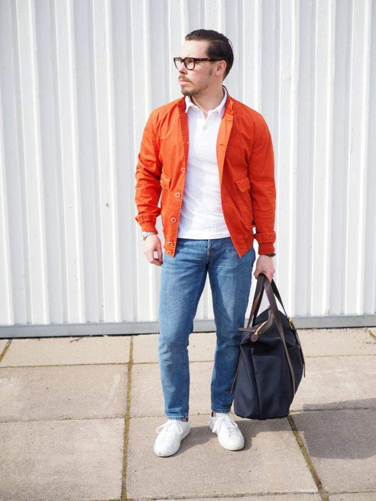 How to orange wear blazer