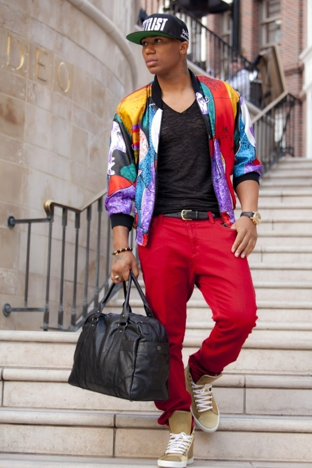 How to Wear a Multi colored Bomber Jacket (3 looks) | Men's Fashion