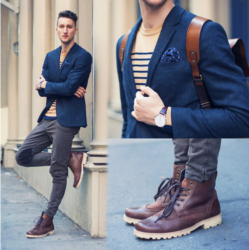 Alfa img - Showing > Blue Blazer For Men With Jeans
