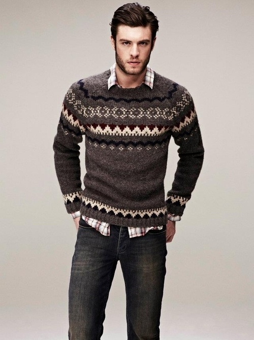 How to Wear a Fair Isle Sweater (137 looks) | Men's Fashion