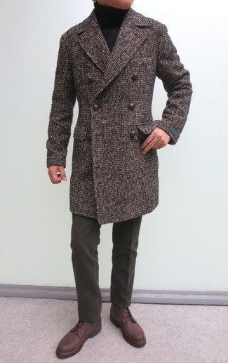 Trim Fit Wool Chesterfield Coat
