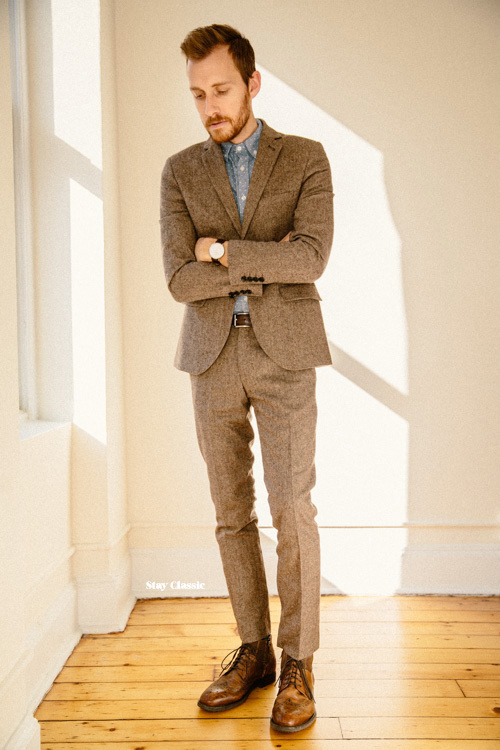 How to Wear a Brown Wool Suit (23 looks) | Men's Fashion