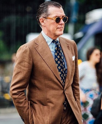 How to Wear a Brown Suit (94 looks) | Men's Fashion