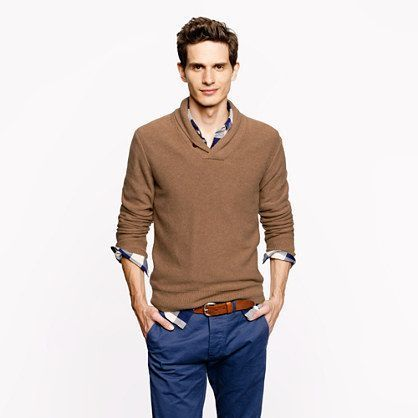 How to Wear a Brown V-neck Sweater (21 looks) | Men's Fashion