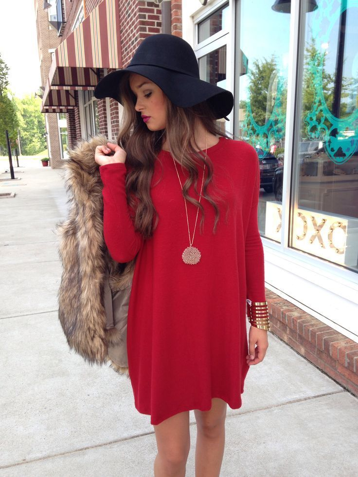 how to wear a red shift dress 40 looks women s fashion