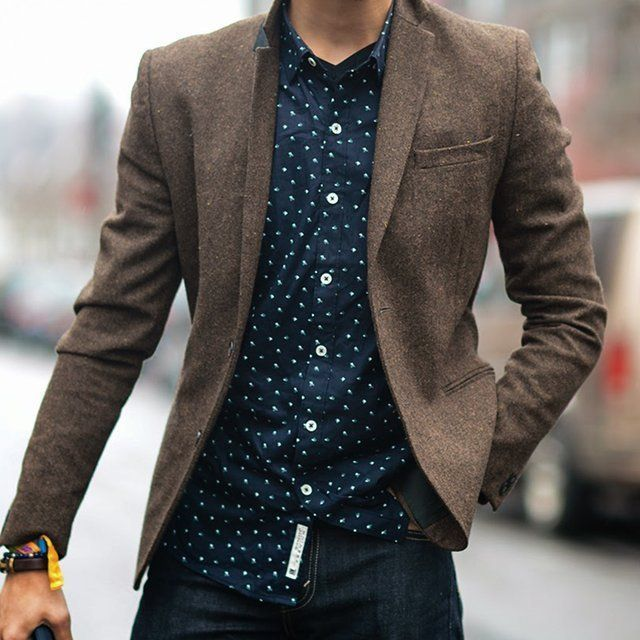 How to Wear a Brown Wool Blazer (128 looks) | Men's Fashion