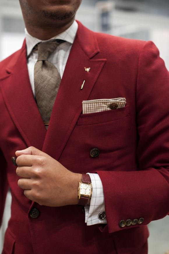 Red Double Breasted Blazer | Men's Fashion