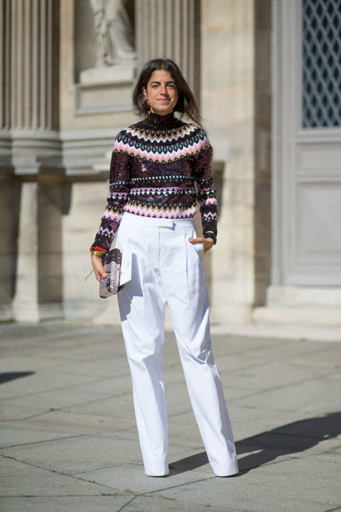 How to Wear a Red and White Fair Isle Crew-neck Sweater (10 looks ...