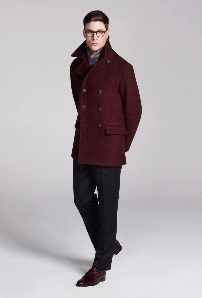 How to Wear a Red Pea Coat (4 looks) | Men's Fashion