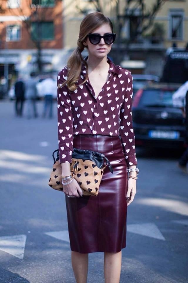 Burgundy Skirt | Women's Fashion