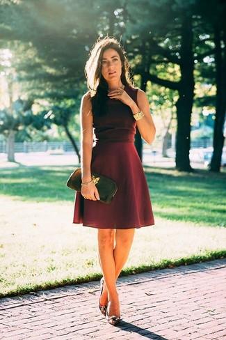 Dailylook Pleated A Line Midi Dress In Burgundy Xs Xl 390fb6014