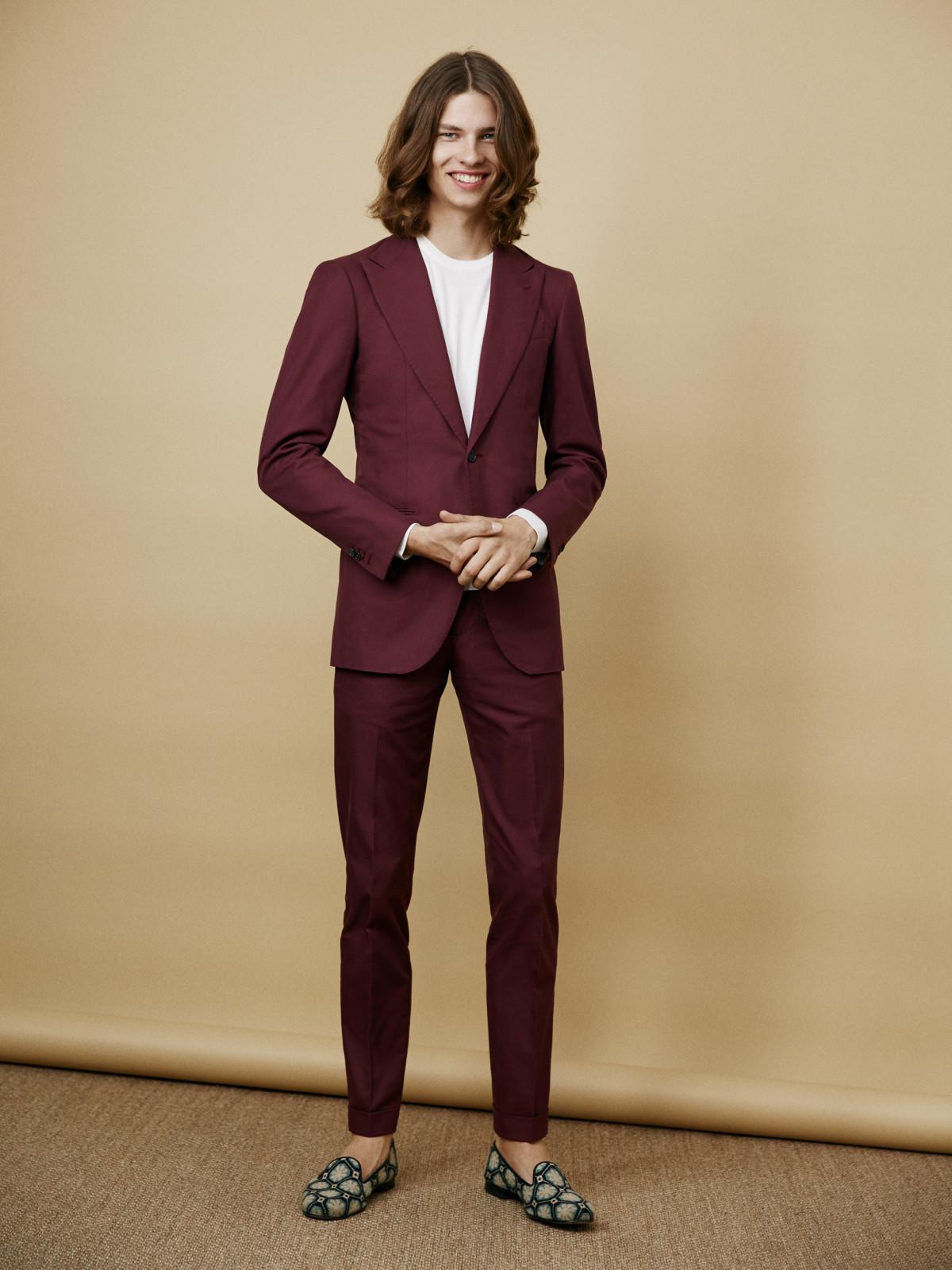 2e2f1c2f6e3d3 How to Wear a Burgundy Suit (29 looks & outfits) | Men's Fashion ...