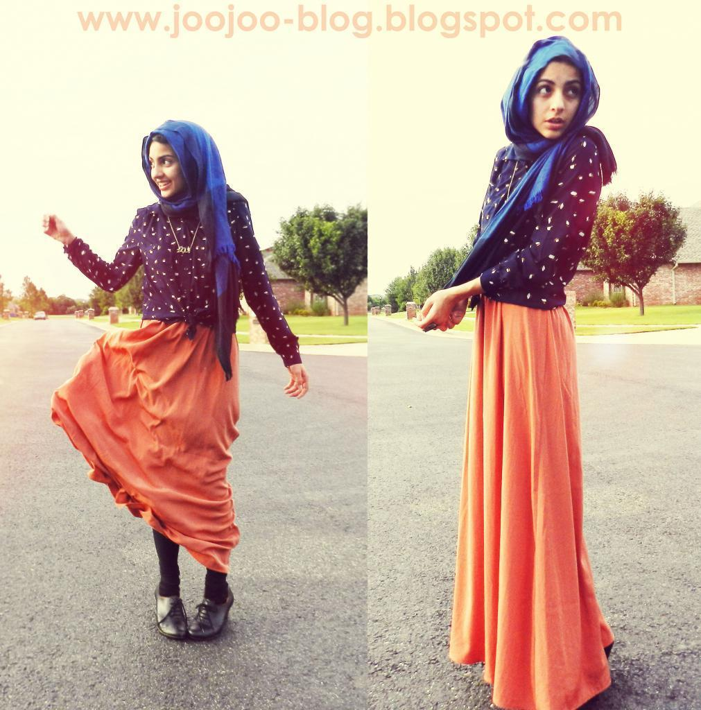 How to Wear an Orange Maxi Skirt (11 looks) | Women's Fashion
