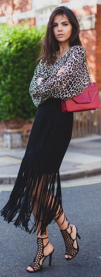 Small Kate Calfskin Leather Crossbody Bag