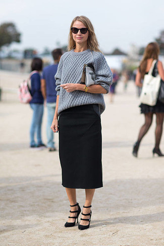 How to Wear a Black Midi Skirt (115 looks) | Women's Fashion