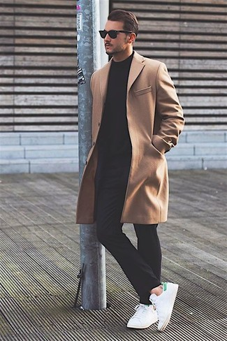 Single Breasted Virgin Wool Cashmere Blend Overcoat