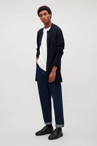66b7714340 ... hombres de 20 años Look de moda  Camisa de manga larga de franela negra