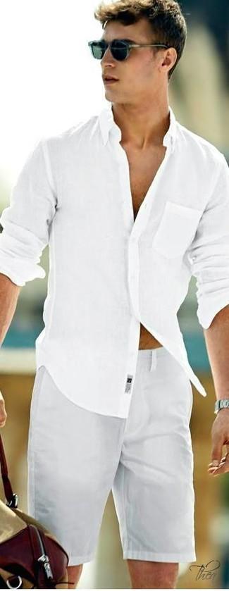 Camisa de manga larga blanca de Emporio Armani