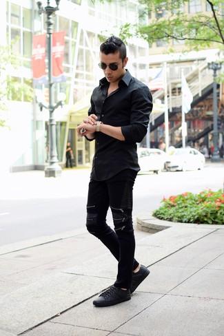 Gafas de sol negras de Cartier