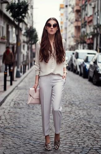 Camisa de vestir de seda blanca de And A