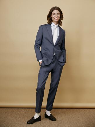 Look de moda: Camisa de vestir celeste