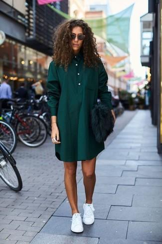 Vestir De Cómo Una Combinar En Oscuro Tartán Camisa Verde aPPW6