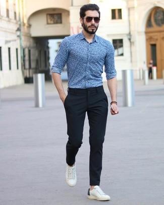 Cómo Combinar Unos Tenis Blancos Con Un Pantalón De Vestir