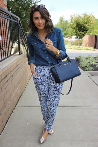 Combinar Unas Pijama Cómo Azules Pantalones Con Unos Paisley De ikuPZX