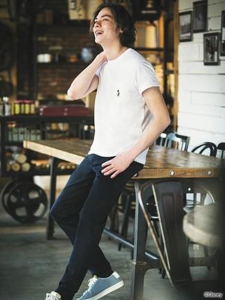 Camiseta con cuello circular blanca de Maison Martin Margiela