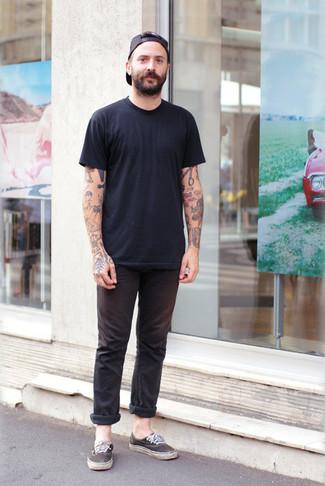 Zapatillas plimsoll negras de Valentino Garavani