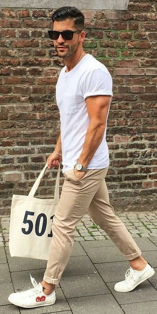 Camiseta con cuello circular blanca de Neil Barrett