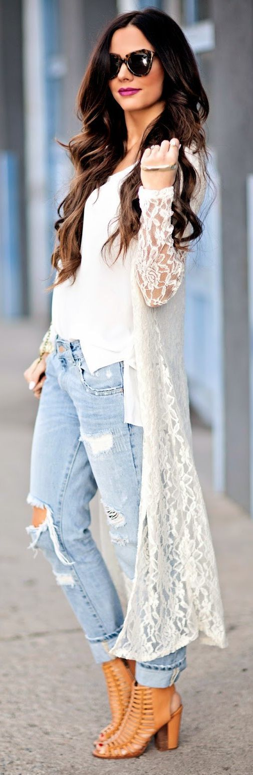 White Lace Cardigan | Women's Fashion