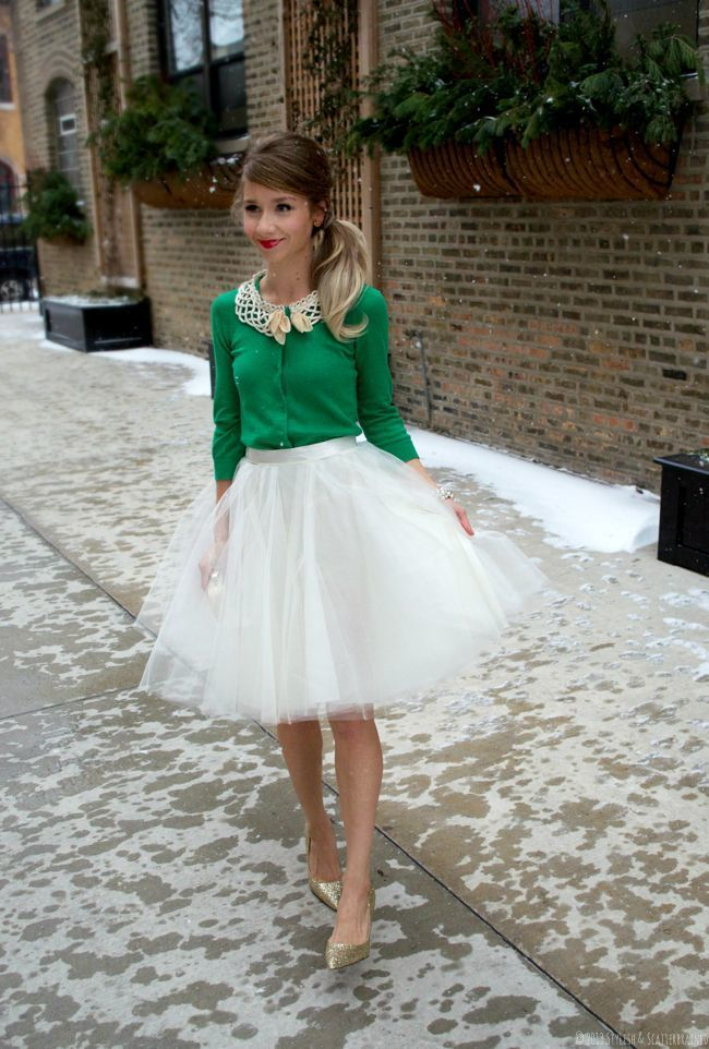 How to Wear a White Full Skirt (35 looks) | Women's Fashion