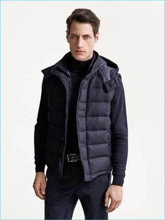 Chaleco de abrigo azul marino de Herno