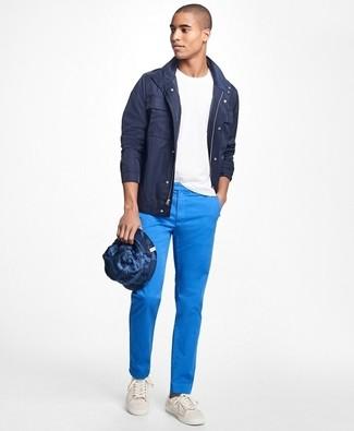 Pantalón chino azul de Stone Island