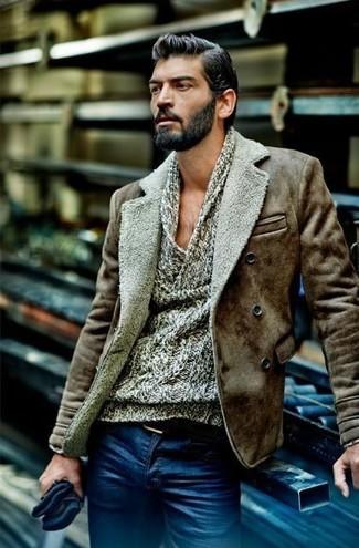 Jersey con cuello vuelto holgado gris de Daniele Fiesoli