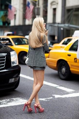 En De Look Moda Y Tweed Chaqueta Negro Horizontales Rayas ZWYqUw
