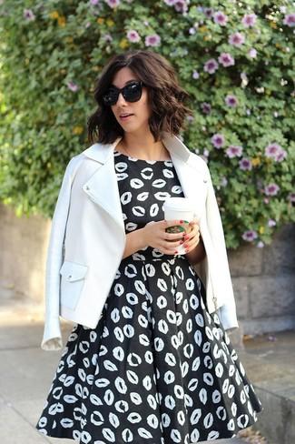 Chaqueta para vestido negro y blanco