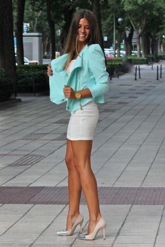 Zapatos para vestido verde menta