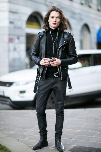 Jersey de cuello alto negro de Diesel Black Gold