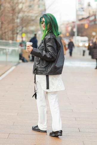 Pantalón de vestir blanco de Max Mara