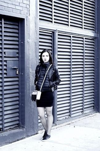 Tenis de cuero negros de Versace