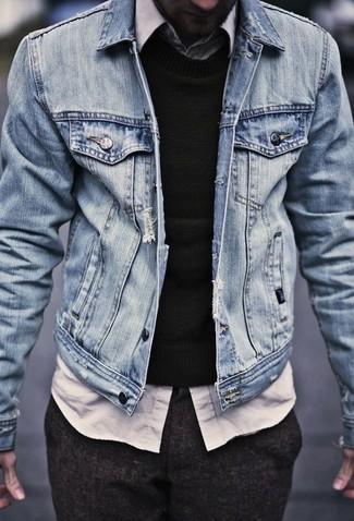 Jersey con cuello circular negro de AR+